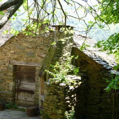 Clede mas Castagnère en Cévennes vue d'en haut