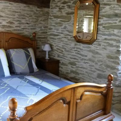Chambre parentale du gite Castagnère 4* en Cévennes