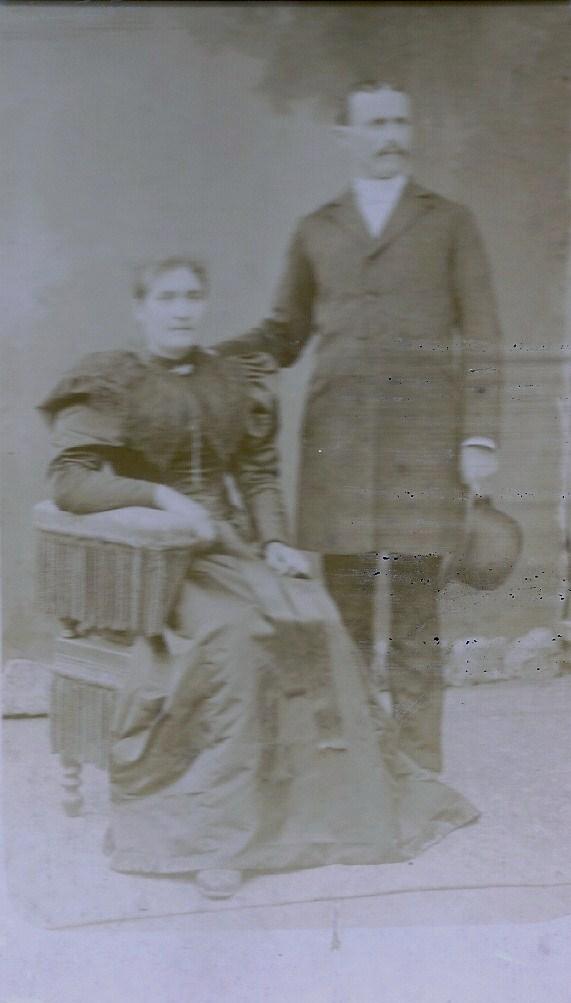 Clémentine et Alfred MARTIN, La Castagnère, Aujac, Hautes Cévennes