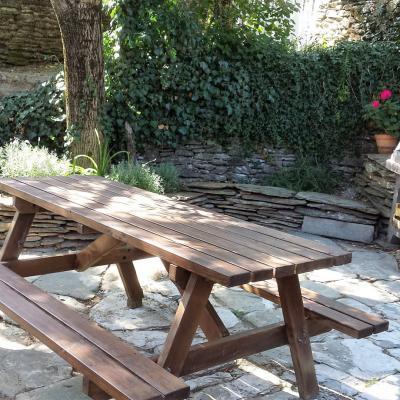 Terrasse du gite Castagnere 4* en Cévennes