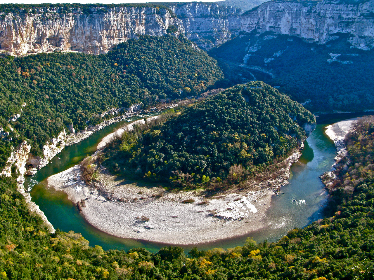 Meandre gorges ardeche